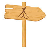 Camping. Vector wooden pointer Stock Photo