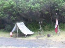 Camping viejo foto de archivo libre de regalías