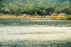 Camping waterfront Royalty Free Stock Photography