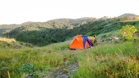 Camping in the wilderness Stock Image