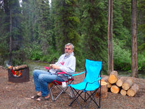Camping in the yukon Stock Photo
