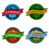 Camping Zone Sign. EPS 10 file and large jpg included Royalty Free Stock Image