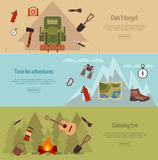 Campingl banner set Royalty Free Stock Photo