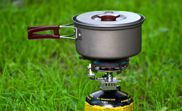 campingowa benzynowa kuchenka Fotografia Stock