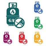 Campingowa benzynowej butelki ikona Obraz Stock