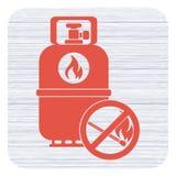 Campingowa benzynowej butelki ikona Obrazy Stock