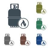 Campingowa benzynowej butelki ikona Zdjęcie Stock