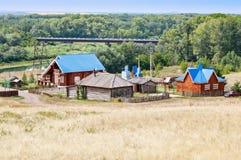 Campingowa Czerwona górska wioska Saraktash Fotografia Stock