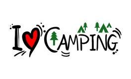 Campingowa miłości wiadomość ilustracji