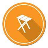 Campingowa stolec ikona Zdjęcie Stock