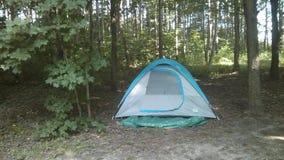 Campingowego namiotu drewna Zdjęcia Royalty Free