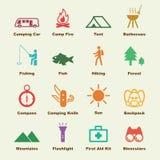 Campingowi elementy Obraz Royalty Free