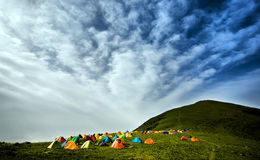 campingowi namioty fotografia stock