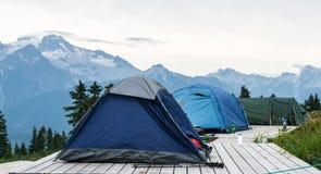 Campingowy Elfin jezioro szczyt zdjęcie royalty free