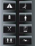 campingowy ikony czas wolny set Zdjęcia Royalty Free