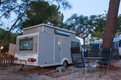 campingowy karawanowy miejsce Obraz Stock