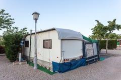 campingowy karawanowy miejsce Obraz Royalty Free