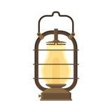 Campingowy lampion lub Benzynowa lampa Obrazy Stock
