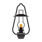 Campingowy lampion lub Benzynowa lampa Fotografia Stock