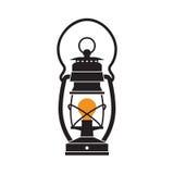 Campingowy lampion lub Benzynowa lampa Zdjęcia Stock