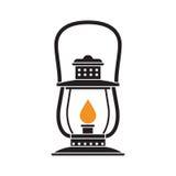 Campingowy lampion lub Benzynowa lampa Obraz Stock