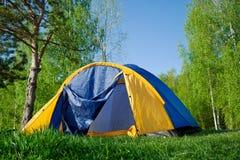 campingowy lasowy namiot Fotografia Royalty Free