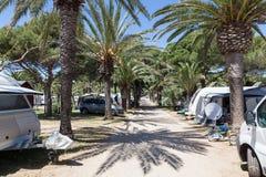 Campingowy miejsce w południowym Hiszpania Zdjęcie Royalty Free