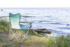 Campingowy miejsce z karłami blisko morza Zdjęcie Stock