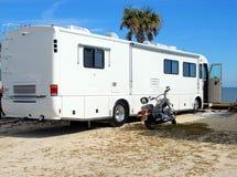 campingowy motorhome plaży Fotografia Royalty Free