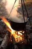 campingowy pożarniczy czajnik Obrazy Royalty Free