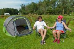 campingowy rodzinny wakacje Zdjęcie Royalty Free