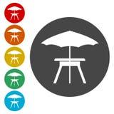 Campingowy stołowy ikona wektor ilustracji