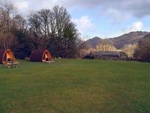 Campingowy teren z 2 strąkami Zdjęcie Royalty Free