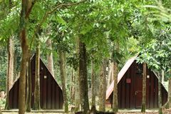 campingplats Arkivfoto