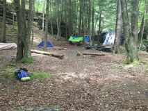 campingplats royaltyfria bilder