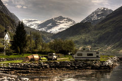 campingplats Royaltyfri Fotografi
