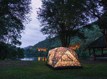 Campingplats. arkivbilder