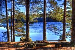 Campingplats arkivbilder