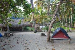 Campingplats i Colombia Arkivfoton