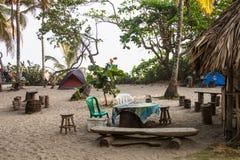 Campingplats i Colombia Arkivfoto