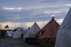 Campingplats på striden av nationerna Arkivbilder