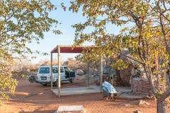 Campingplatsen på Hoadaen vilar lägret Fotografering för Bildbyråer