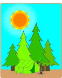 campingplatsmorgon stock illustrationer