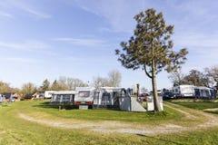 Campingplatz Stockbild