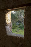 Campingplatz-Ansicht, die aus Dennis Hut, Waitpinga, Süd-Austra heraus schaut Lizenzfreie Stockbilder