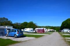 Campingplatz bei Bakewell, Großbritannien Lizenzfreies Stockbild