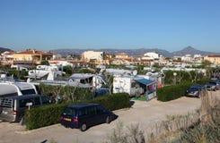 Campingplatz in Oliva, Spanien Stockfotos