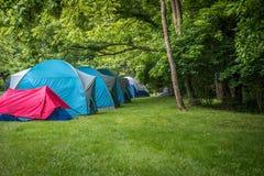 Campingplatz und Wanderung Stockfotografie