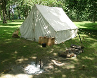 Campingplatz zwei Stockbild