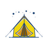 Campingzeltikone Stockfoto